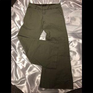 GAP wide leg olive green pants